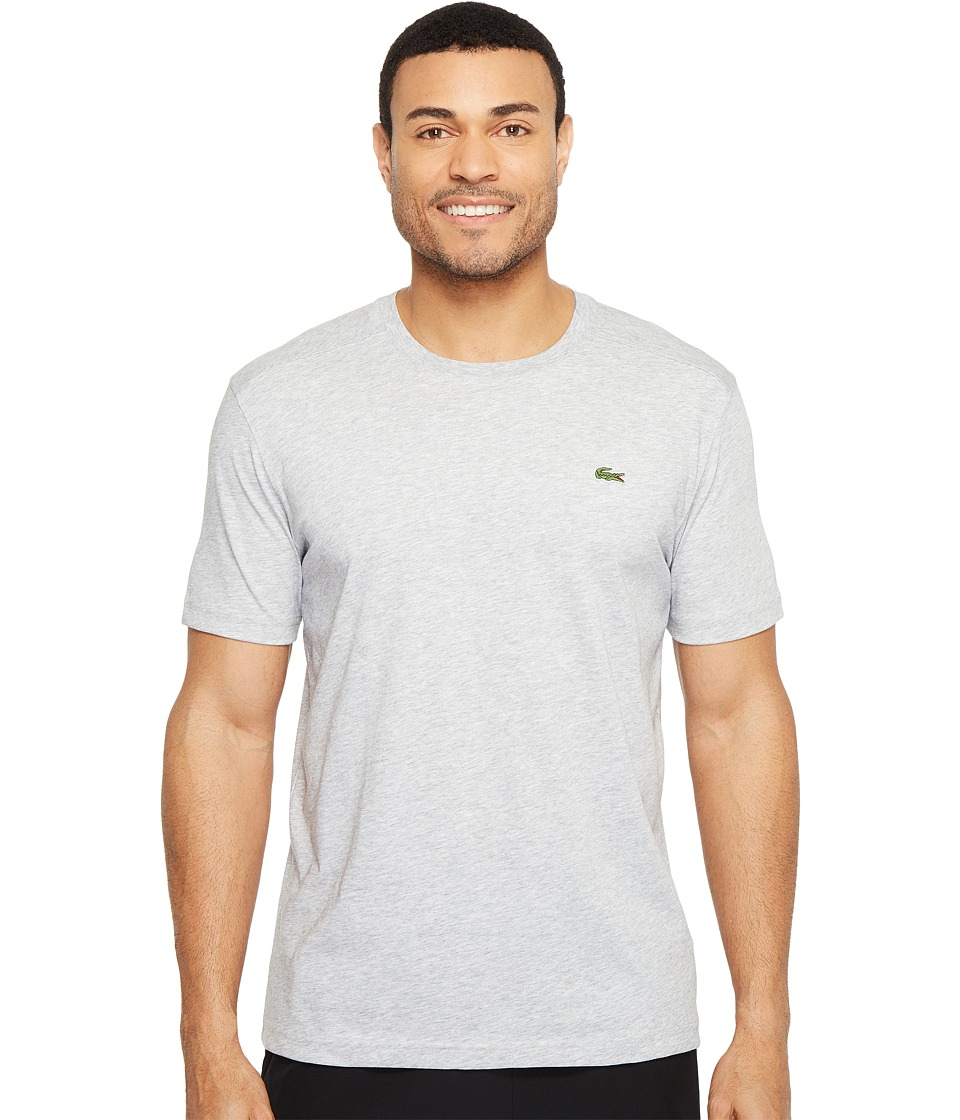 Lacoste - Sport Short Sleeve Technical Jersey Tee Shirt (Silver Chine) Men's T Shirt