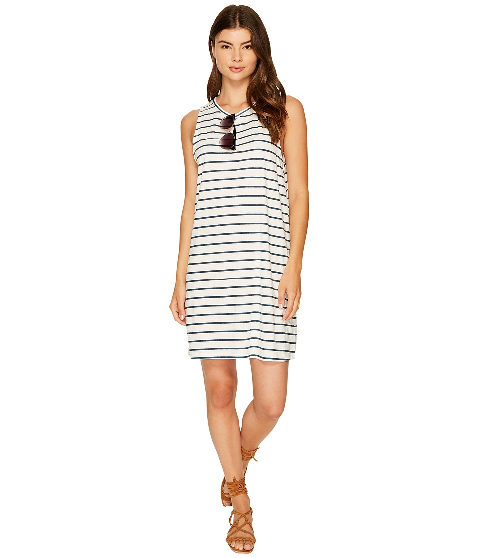 Roxy - Just Simple Stripe Tank Dress (Marshmallow Lexi Stripe) Women's Dress
