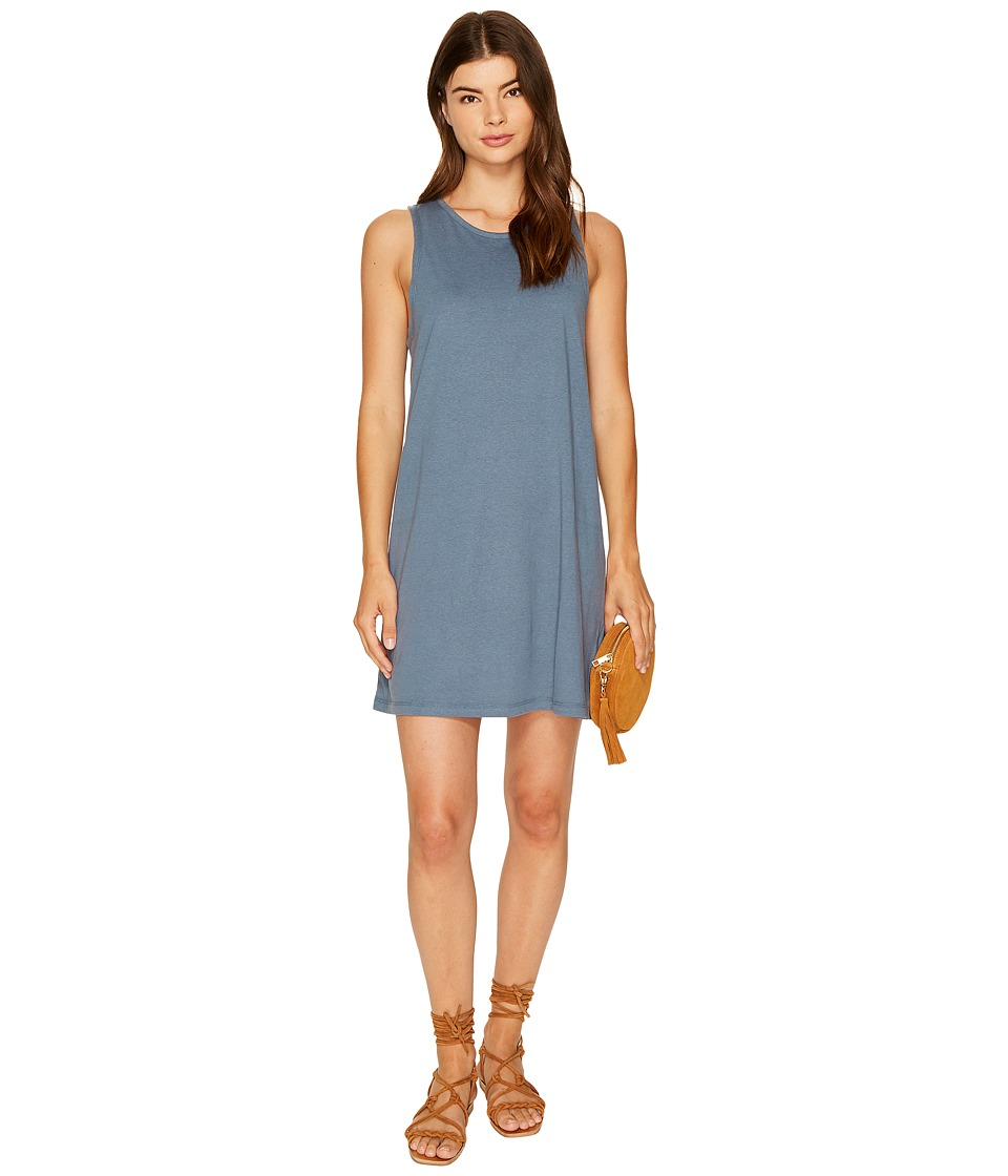 Roxy - Just Simple Solid Tank Dress (Chine Blue) Women's Dress