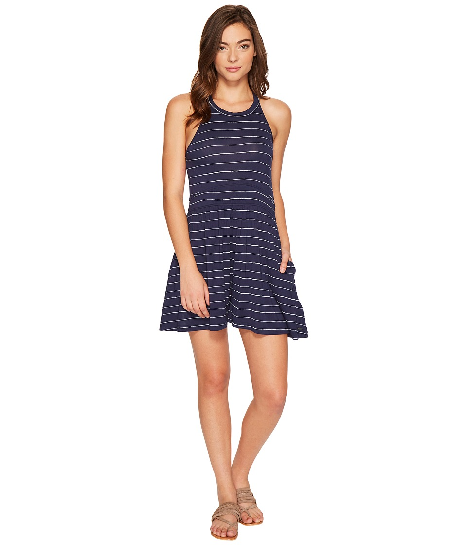 Roxy - Just Start Romper (Dress Blues Pencil Stripe) Women