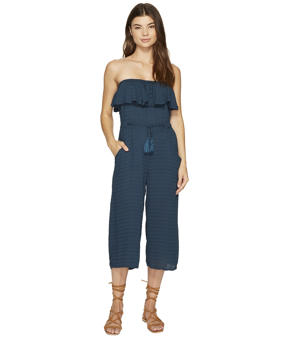 Roxy - Romantic Daze Solid Romper (Reflecting Pond) Women's Jumpsuit & Rompers One Piece
