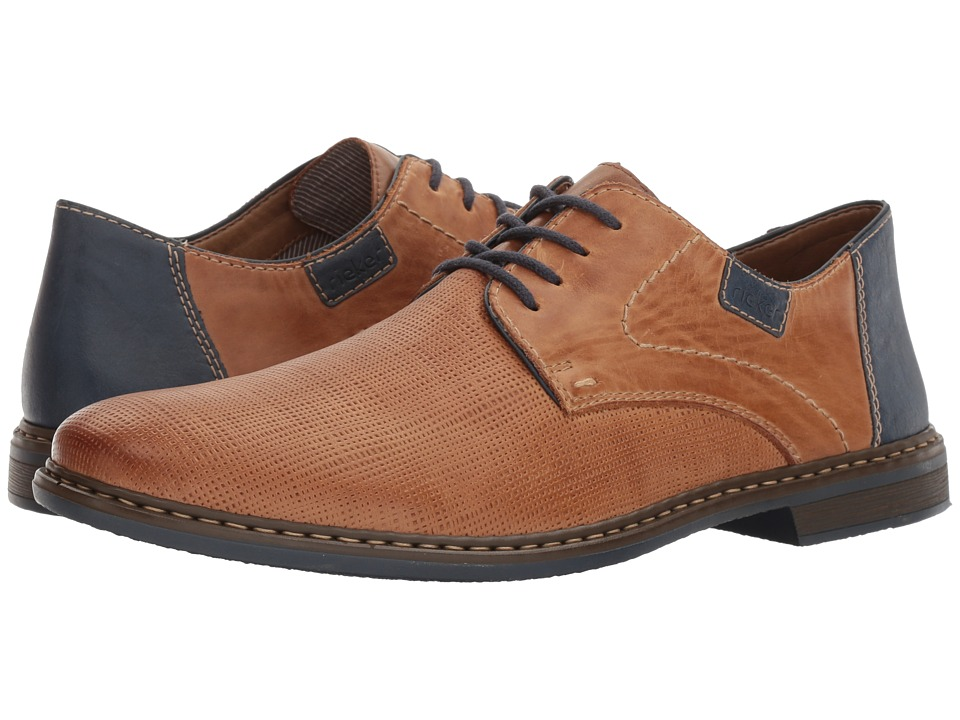 Rieker - 13404 Diego 04 (Toffee/Royal/Navy) Men's Shoes