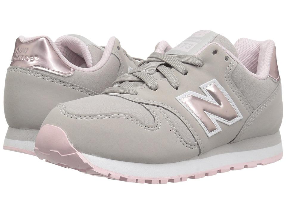 New Balance Kids KJ373 (Little Kid/Big Kid) (Pink/Grey) Girls Shoes