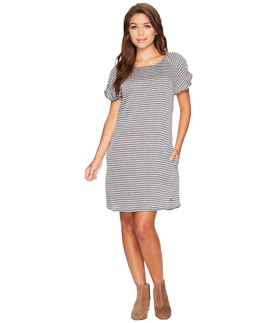 Roxy - Peak Moments Striped Dress (Anthracite Three Lines Stripes) Women's Dress