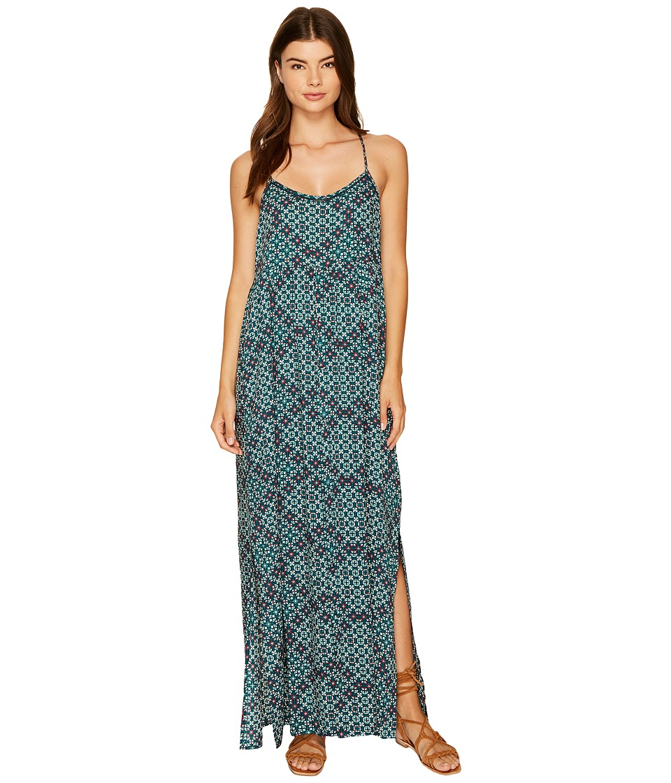 Roxy - Start Something Maxi Dress (Reflective Pond Liberia) Women's Dress