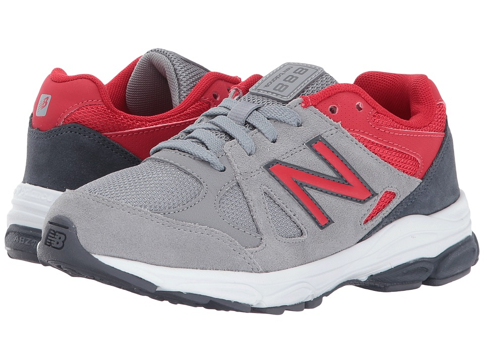 New Balance Kids KJ888v1 (Little Kid) (Grey/Red) Boys Shoes