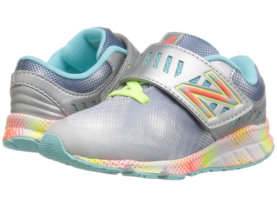 New Balance Kids - Electric Rainbow 200 HL (Infant/Toddler) (Grey/Multi) Girls Shoes