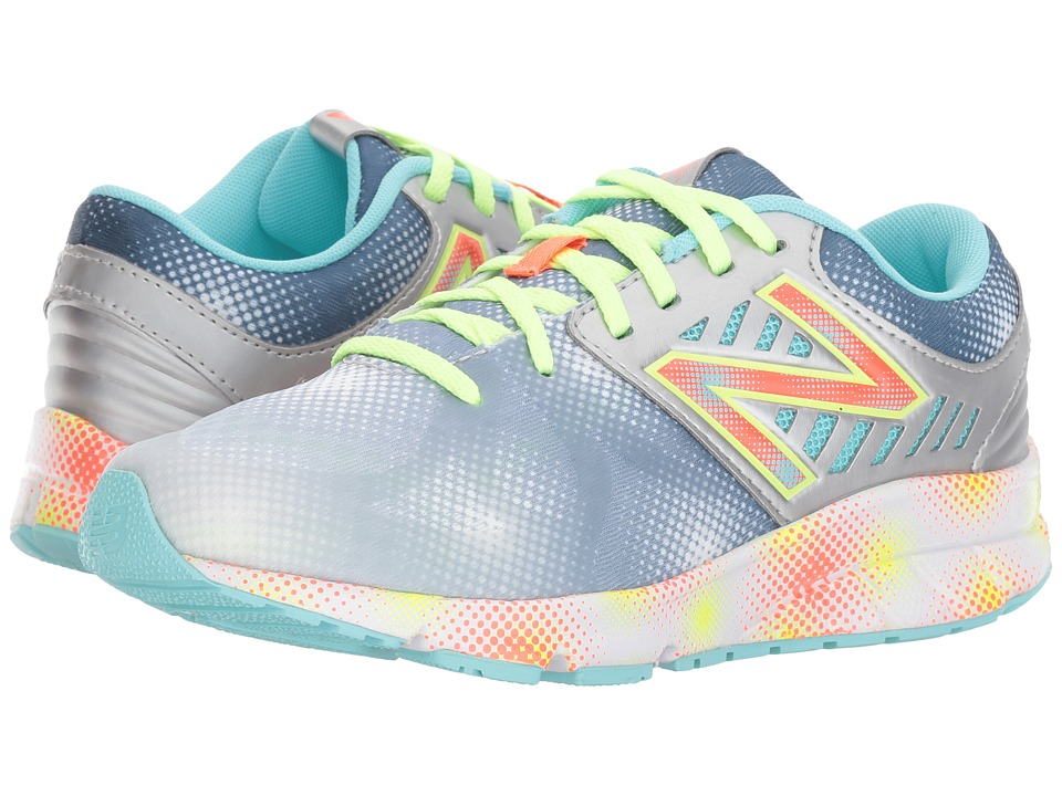 New Balance Kids - Electric Rainbow 200 (Big Kid) (Grey/Multi) Girl's Shoes