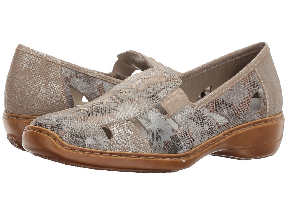 Rieker - 41385 Doris 85 (Altgold/Fango Silver/Cannes/Riverside) Women's Slip on Shoes