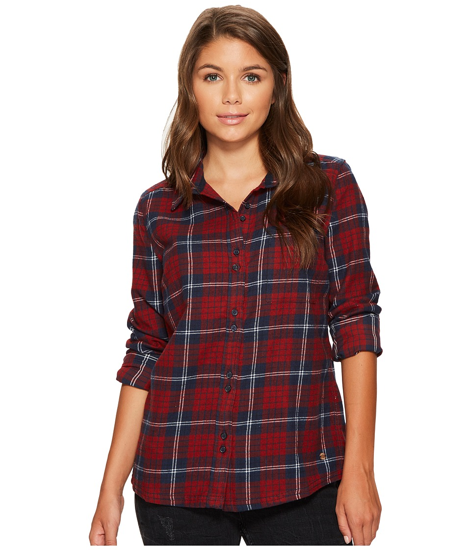 Roxy - Heavy Feelings Long Sleeve Shirt (Dress Blues Scotty Plaid) Women's Long Sleeve Button Up