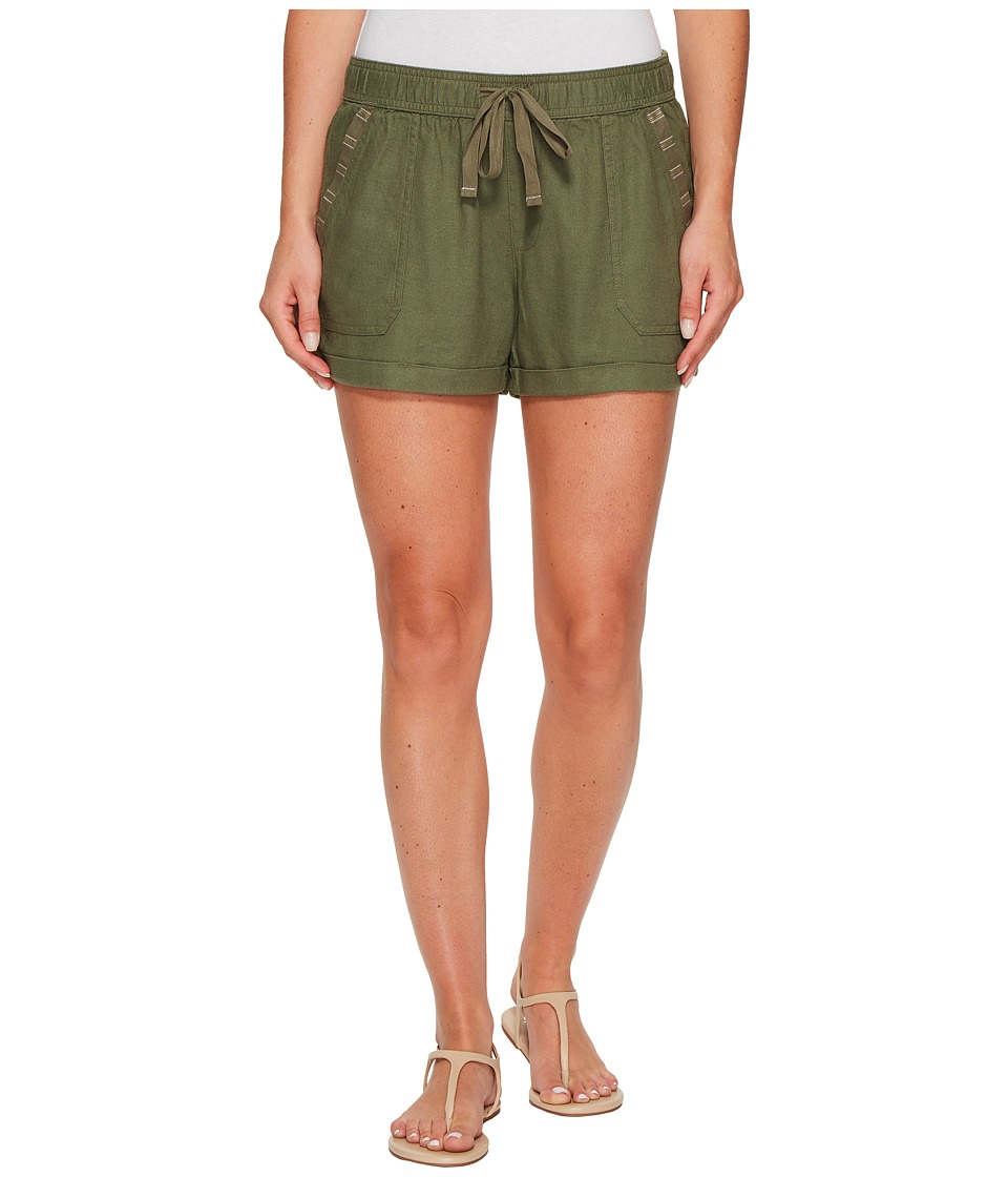 Roxy - Symphony Lover Linen Short (Dusty Olive) Women's Shorts