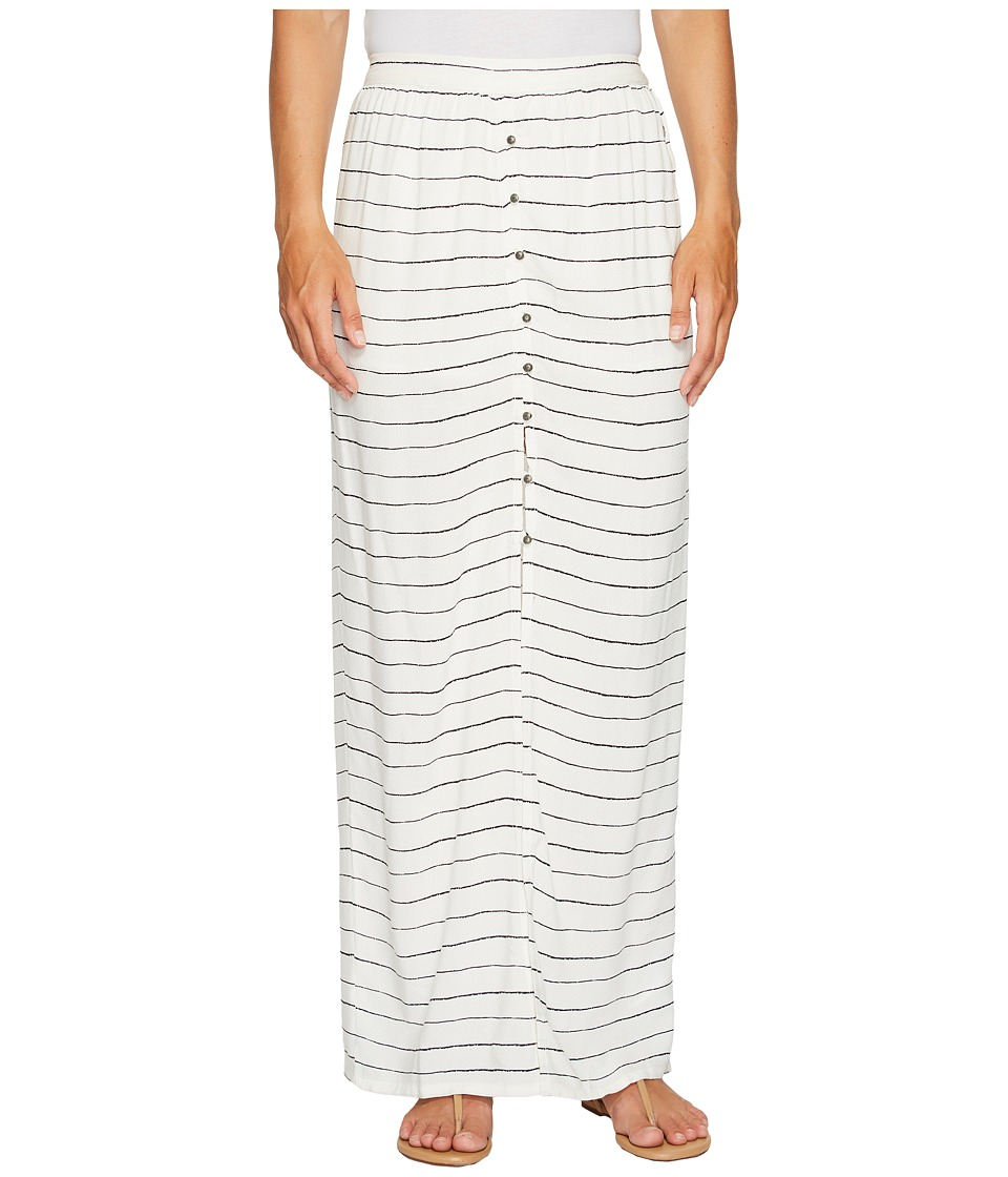 Roxy - Speed of Sound Maxi Skirt (Marshmallow Pencil Stripe) Women's Skirt