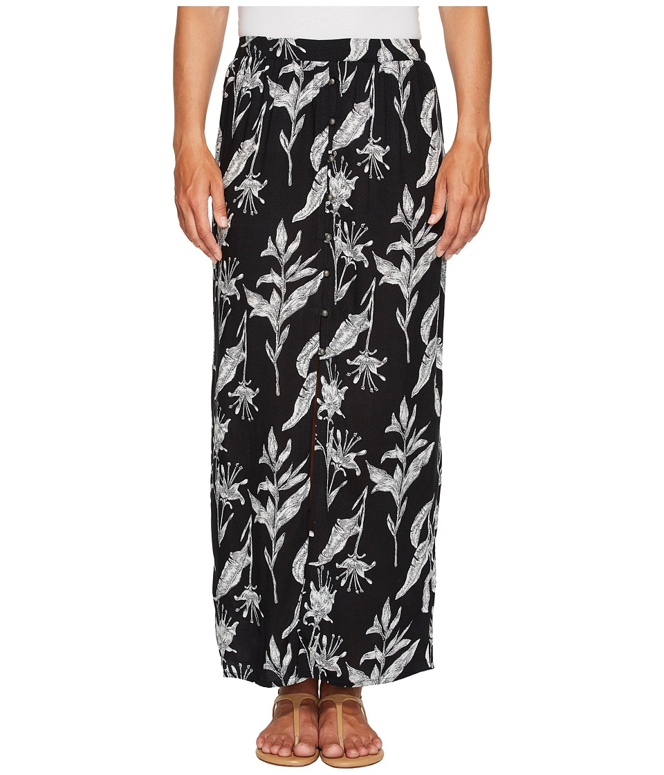 Roxy Speed of Sound Maxi Skirt (Anthracite Love Letter) Women