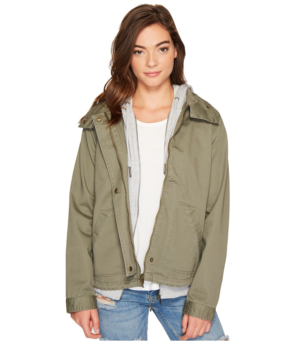 Roxy - Watch The Sunrise Hooded Jacket (Dusty Olive) Women's Coat