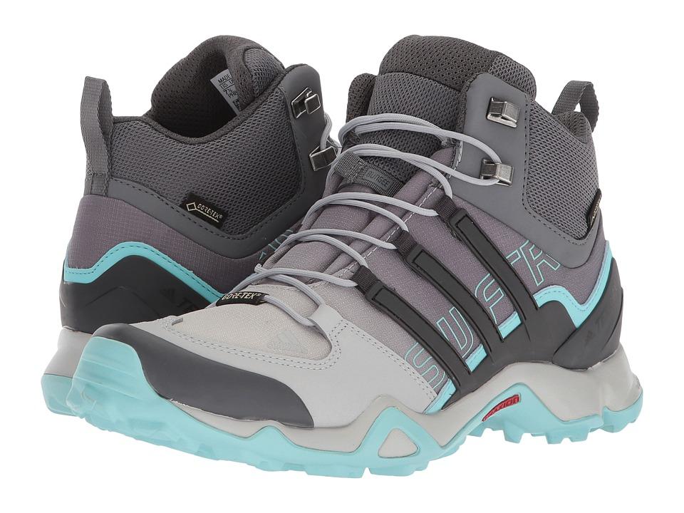 adidas Outdoor Terrex Swift R Mid GTX (Grey Two/Utility Black/Clera Aqua) Women