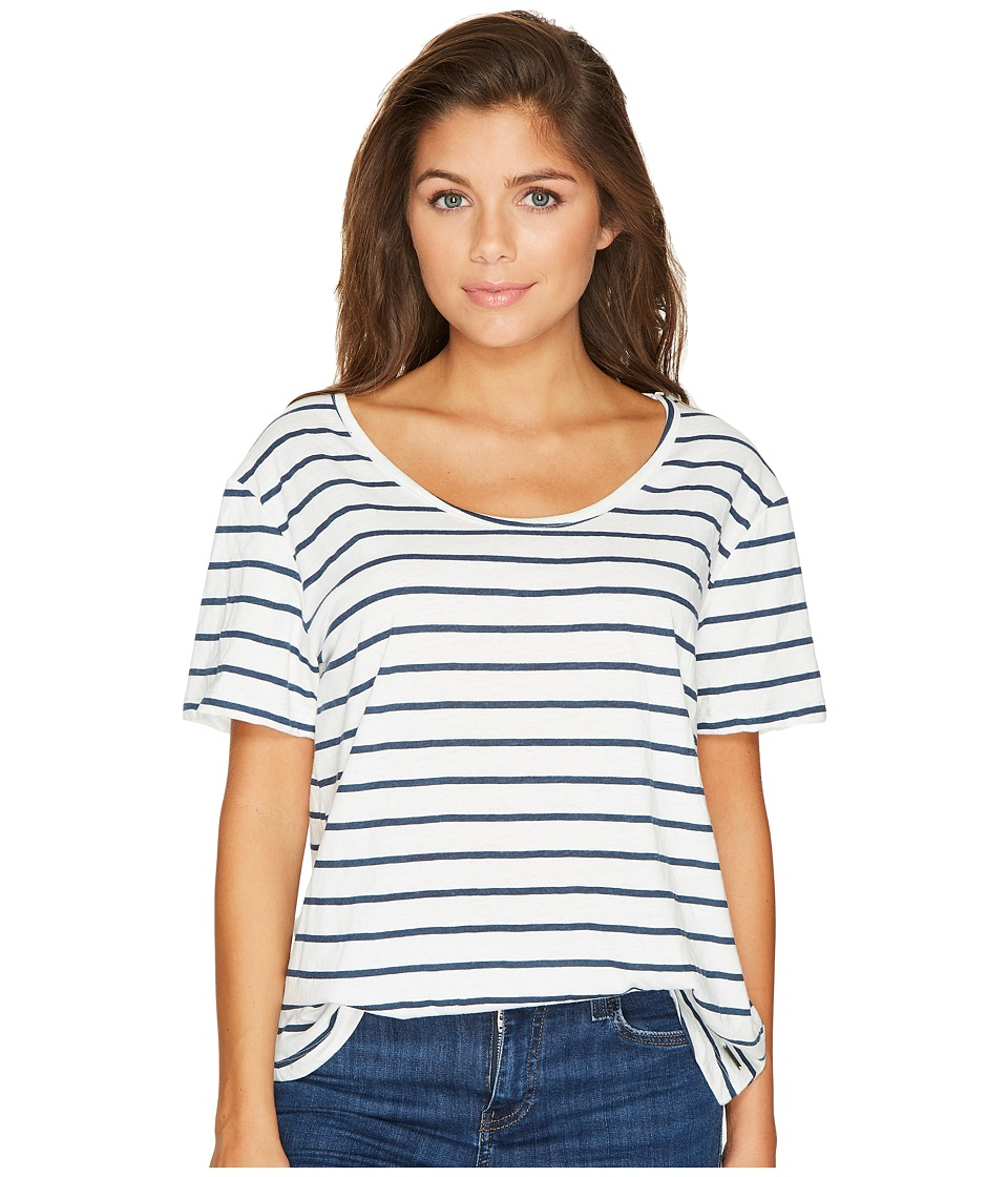 Roxy - Just Simple Stripe Tee (Marshmallow Lexi Stripe) Women's T Shirt