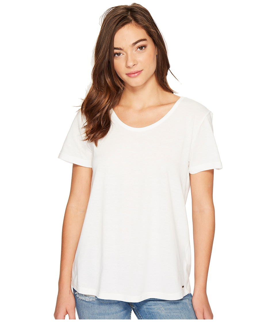 Roxy - Just Simple Solid Tee (Marshmallow) Women's T Shirt