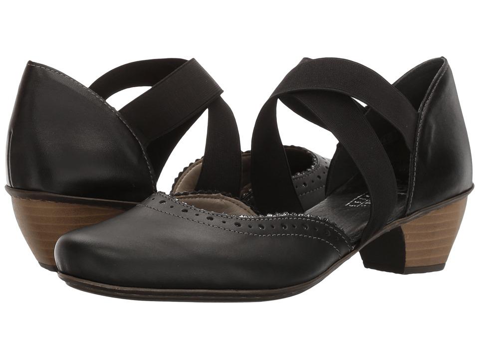 Rieker - 41753 Mariah 53 (Schwarz/Schwarz/Indigo) Women's Shoes