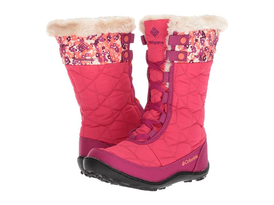 Columbia Kids Minxtm Mid II Waterproof Omni-Heattm Print Boot (Little Kid/Big Kid) (Punch Pink/Corange) Girls Shoes