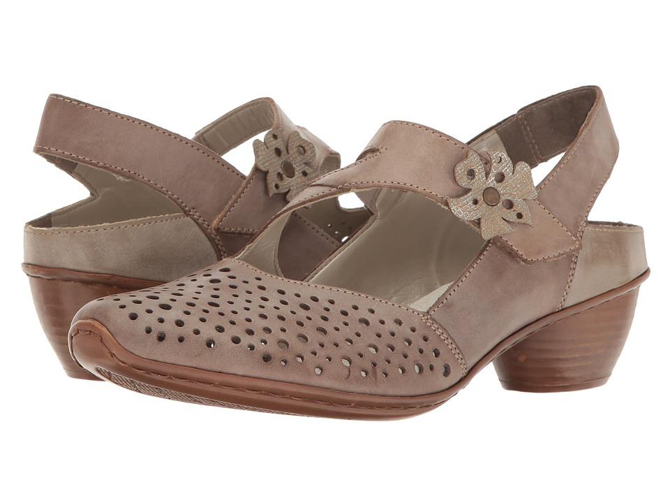 Rieker - 43775 Mirjam 75 (Loam/Fango Silver/Riviera/Riverside) Women's Maryjane Shoes