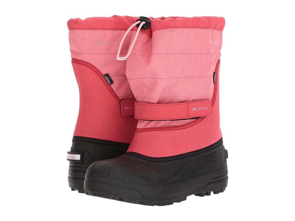 Columbia Kids Powderbug Plus II (Toddler/Little Kid/Big Kid) (Wild Salmon/Rosewater) Girls Shoes
