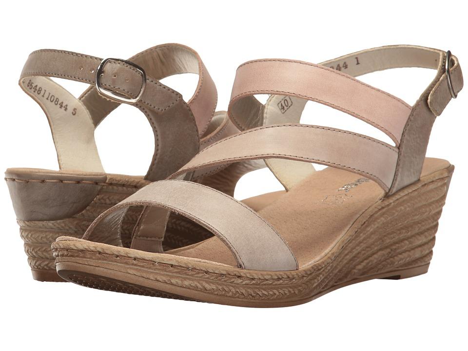 Rieker - 62419 Fanni 19 (Steel/Clay/Rosso/Steel) Women's Shoes