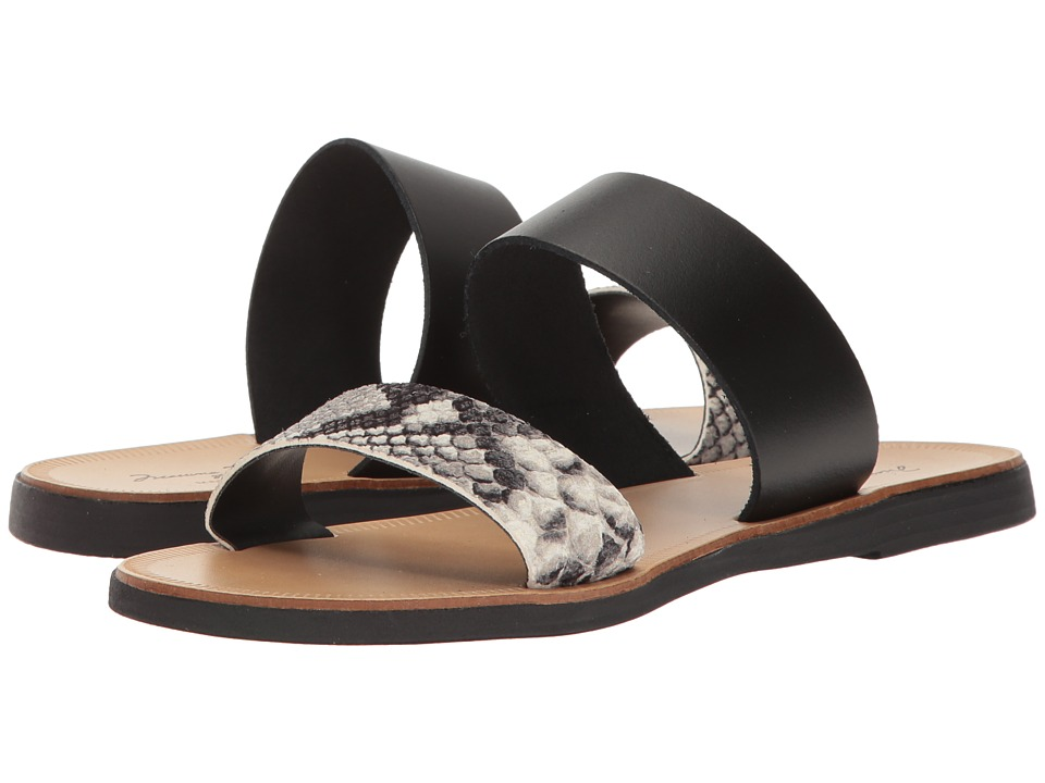 Massimo Matteo - Snake 2 Band Sandal (Snake/Black) Women's Sandals
