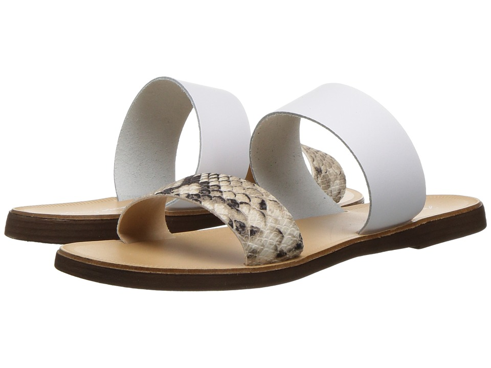 Massimo Matteo - Snake 2 Band Sandal (Snake/White) Women's Sandals
