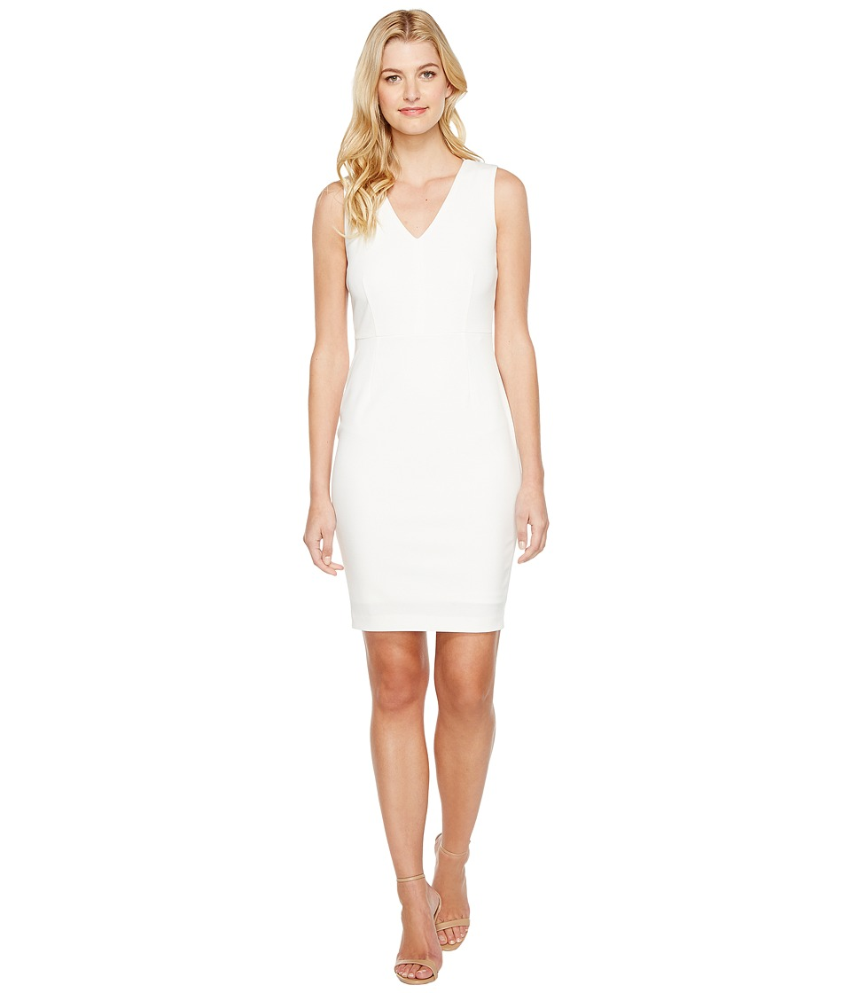 Calvin Klein - Sheath with Mesh Back Dress (White/Black) Women's Dress