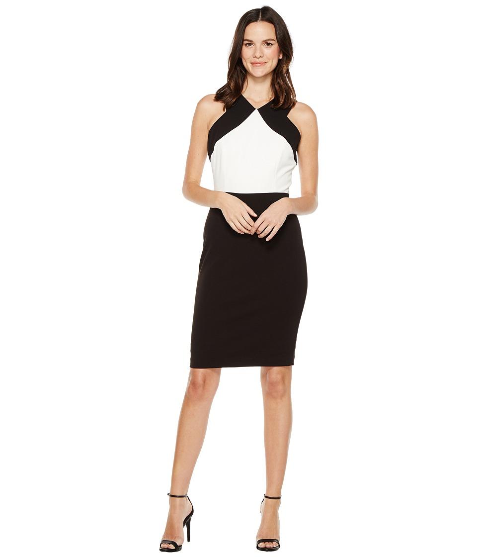 Calvin Klein - Color Block Sheath Dress CD7C143C (Black/White) Women's Dress