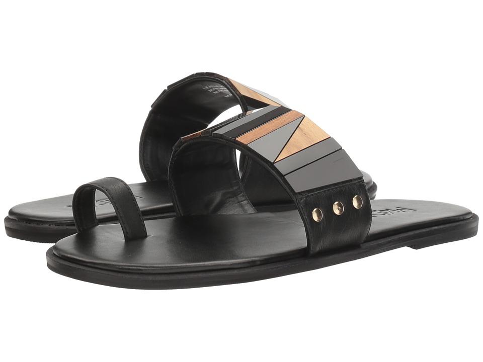 M4D3 - Poppy (Black Baby Calf) Women's Sandals
