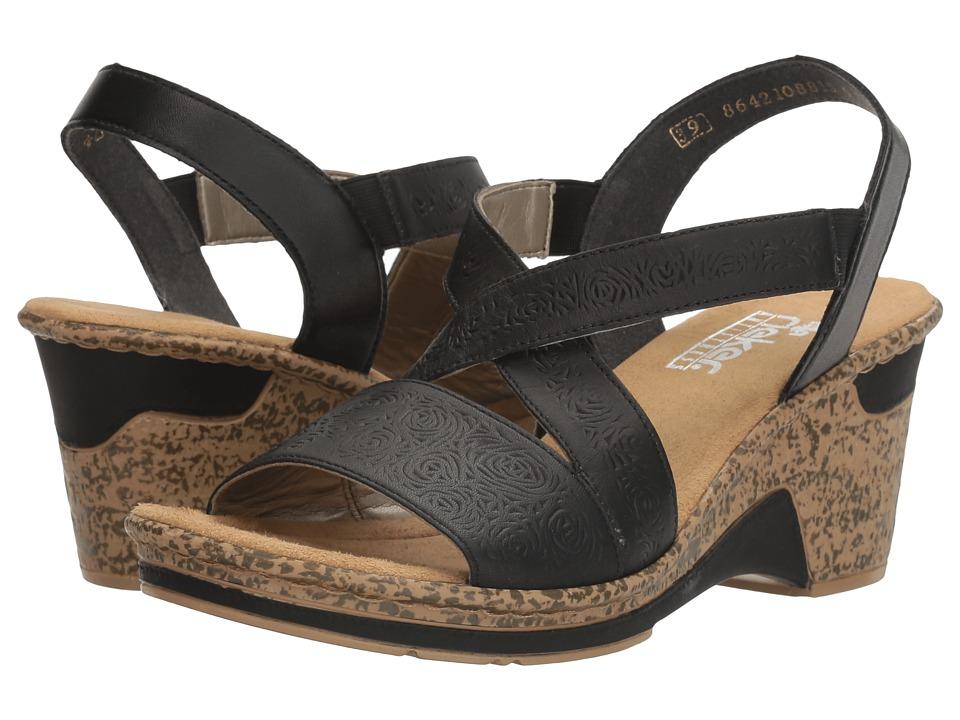 Rieker - 60654 (Black/Black/Newark/Fino) Women's Shoes