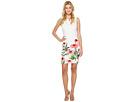 Calvin Klein Sheath Dress with Floral Border Print
