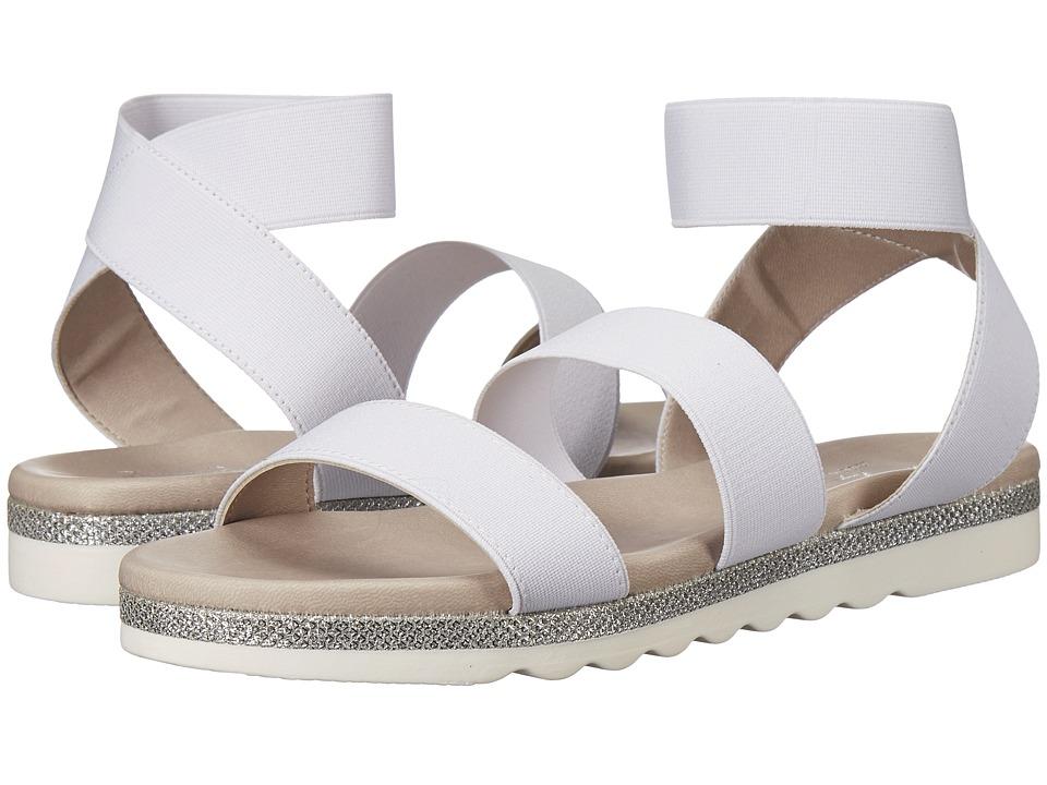 Massimo Matteo - 3 Band Elastic (White) Women's Sling Back Shoes