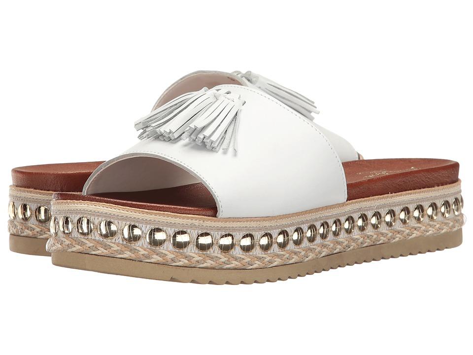 Massimo Matteo - Tassel Slide (White Leather) Women's Slide Shoes