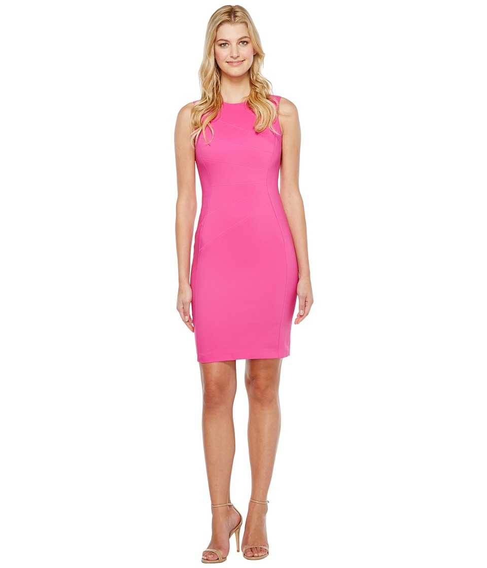 Calvin Klein - Sheath with Starburst Detail (Shocking Pink) Women's Dress