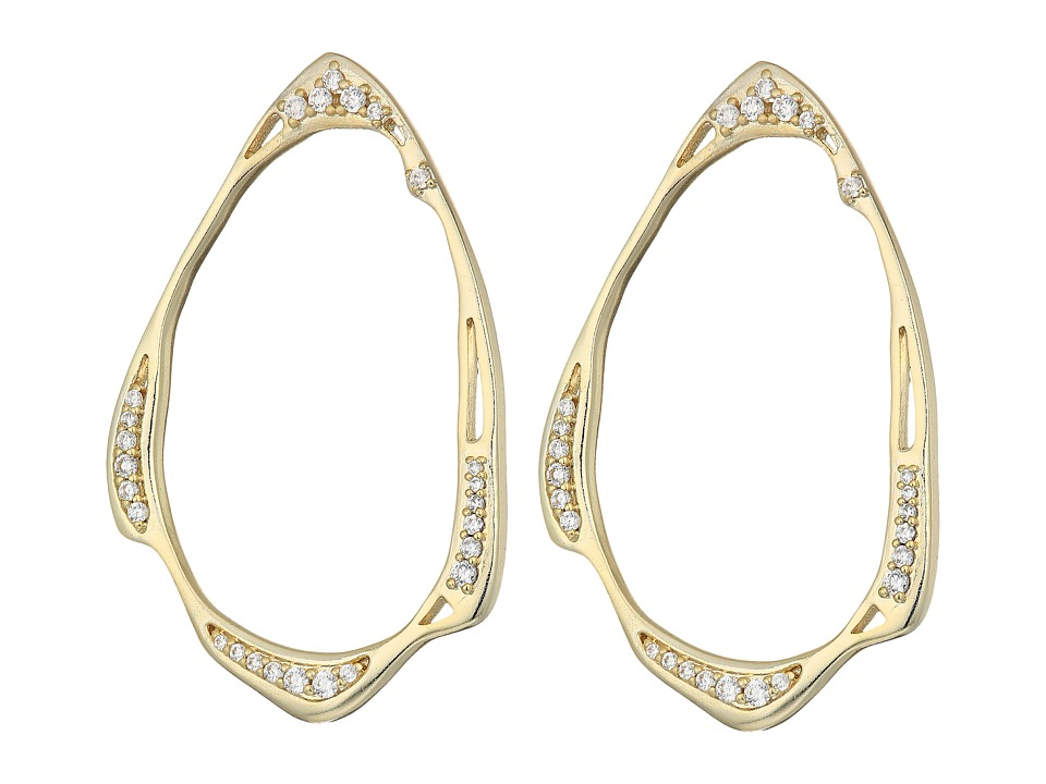 Kendra Scott - Livi Stud Earrings (Gold/White CZ) Earring