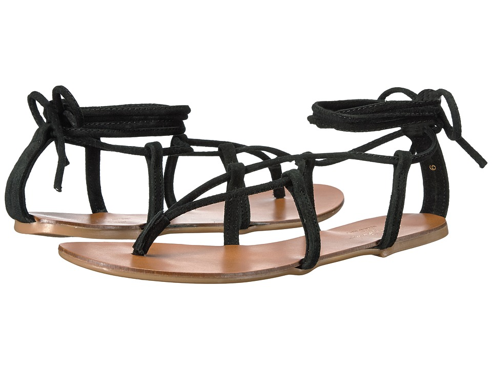 Massimo Matteo - Lace Thong (Black) Women's Sandals