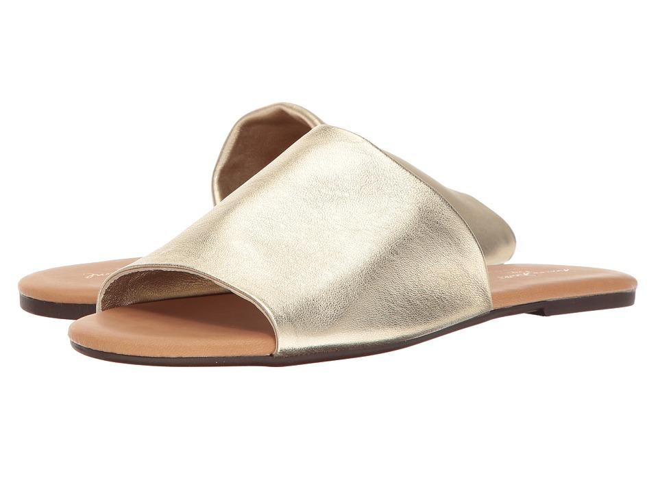 Massimo Matteo - Metallic Slide (Gold) Women's Slide Shoes