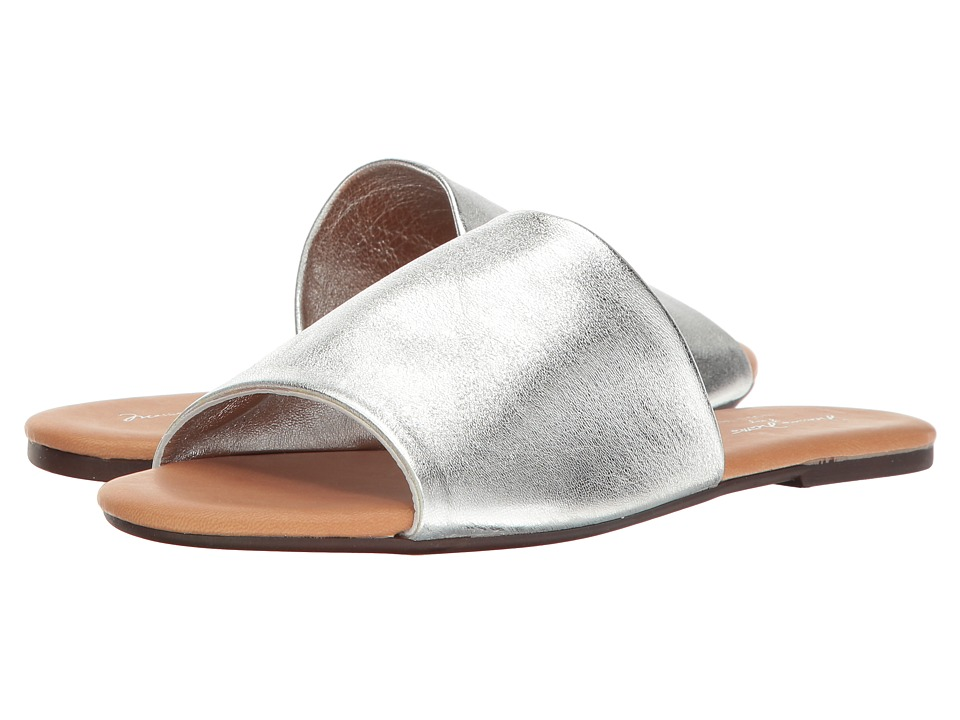 Massimo Matteo - Metallic Slide (Silver) Women's Slide Shoes