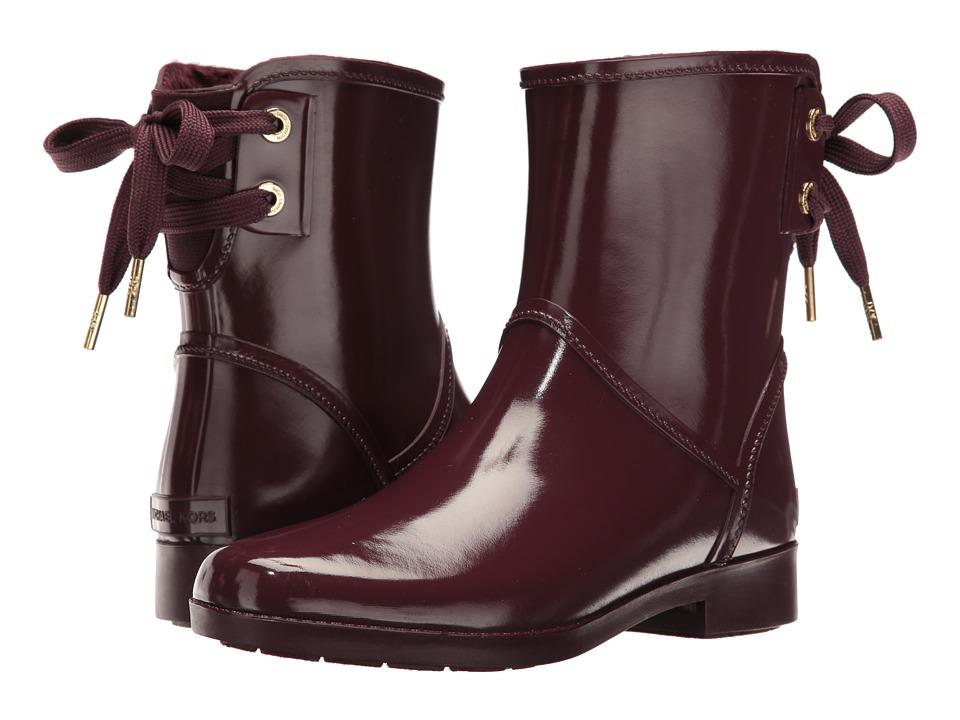 MICHAEL Michael Kors - Larson Rain Bootie (Plum) Women's Boots