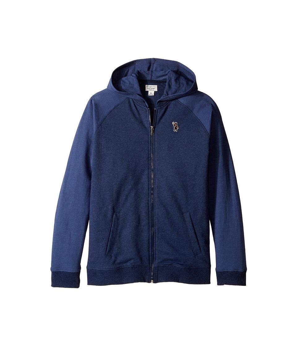 Lucky Brand Kids - French Terry Varsity Jacket w/ Zip-Up (Big Kids) (Moon Indigo) Boy's Coat
