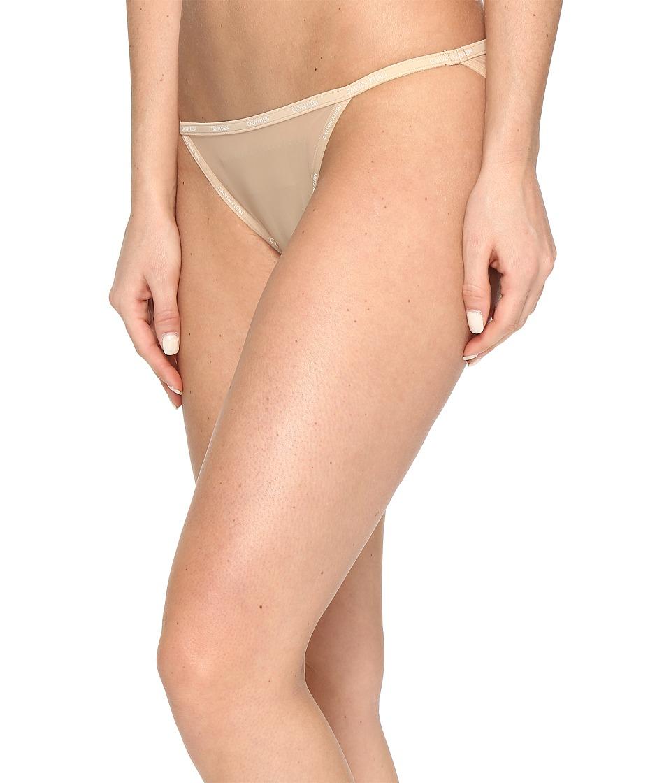 Calvin Klein Underwear - Sheer Marquisette String Bikini (Bare) Women's Underwear