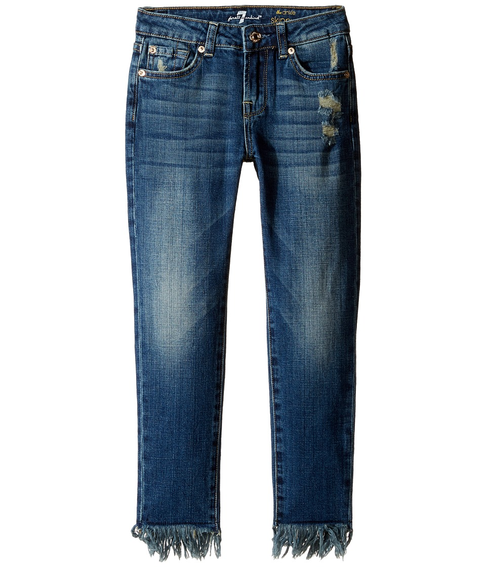 7 For All Mankind Kids - The Ankle Skinny Jeans in Crete Island (Big Kids) (Crete Island) Girl's Jeans