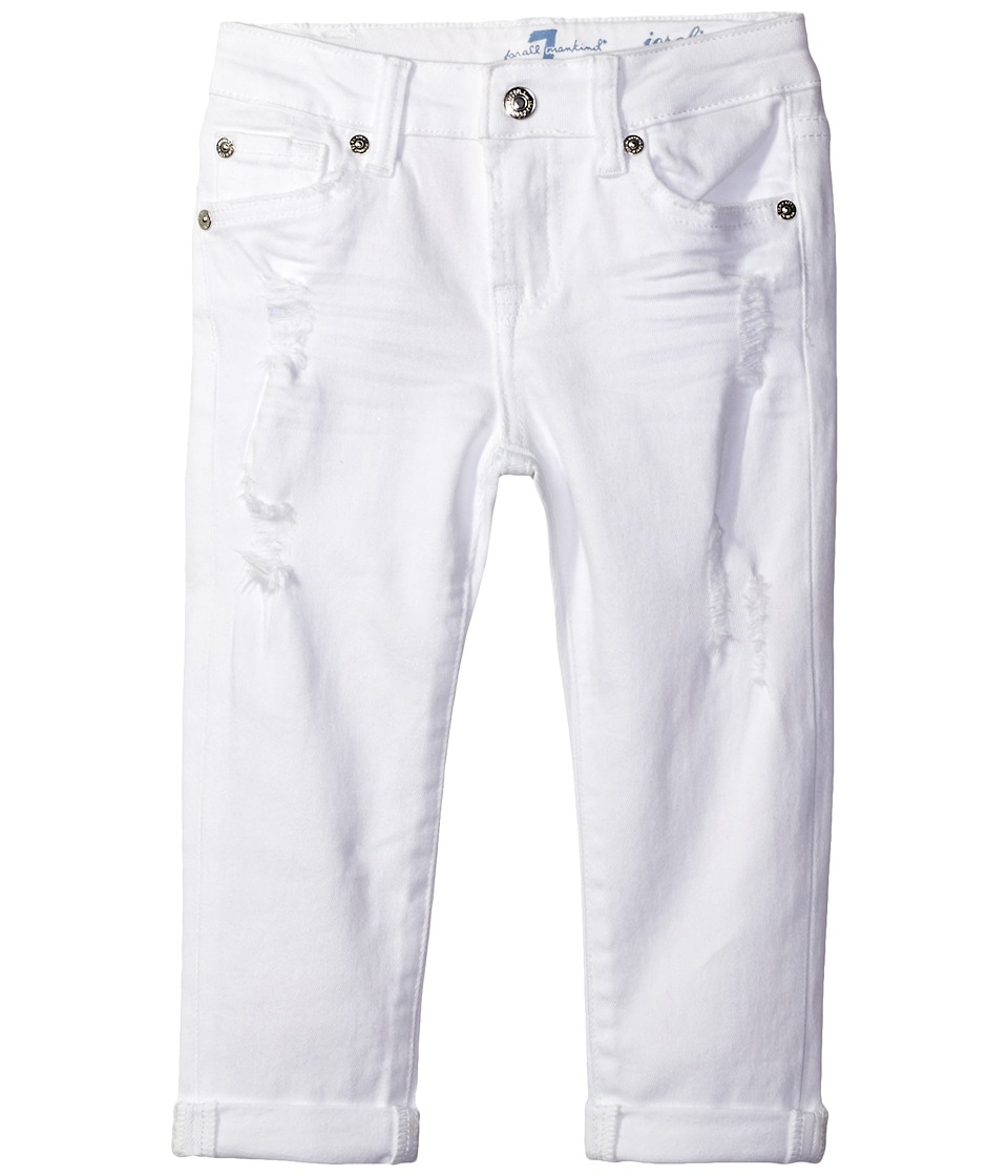 7 For All Mankind Kids - Josefina Boyfriend Jeans in Destructed White (Little Kids) (Destructed White) Girl's Jeans