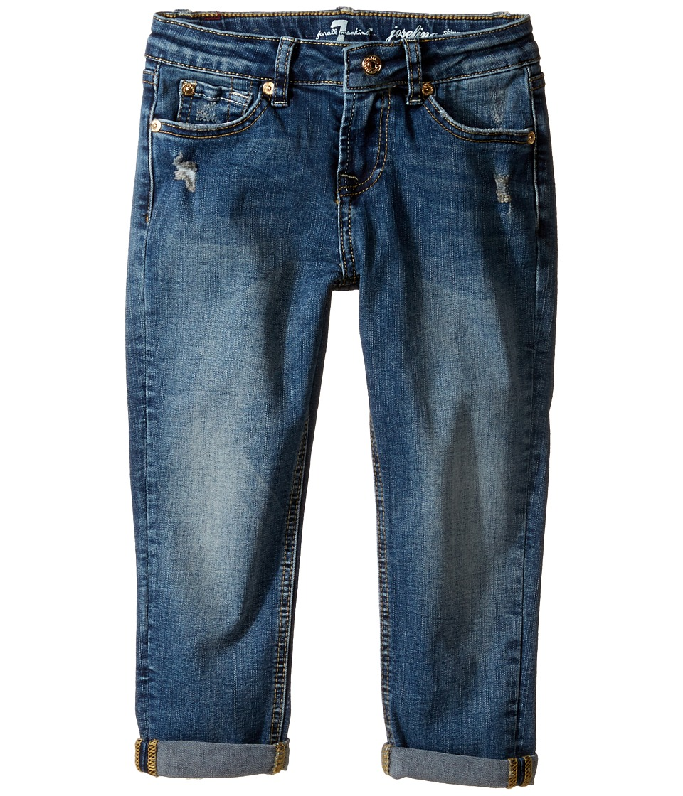 7 For All Mankind Kids - Josefina Boyfriend Jeans in Icelandic Blue (Little Kids) (Icelandic Blue) Girl's Jeans