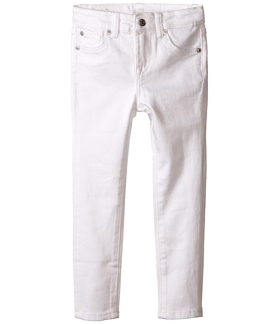 7 For All Mankind Kids - The Skinny Jeans in Clean White (Toddler) (Clean White) Girl's Jeans