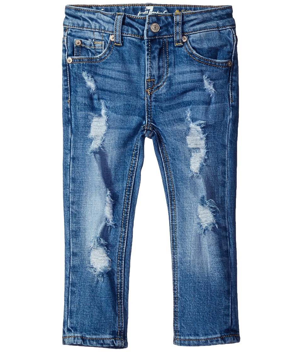 7 For All Mankind Kids - Skinny Crop Roll Jeans in Rigid Blue Orchid (Big Kids) (Rigid Blue Orchid) Girl's Jeans