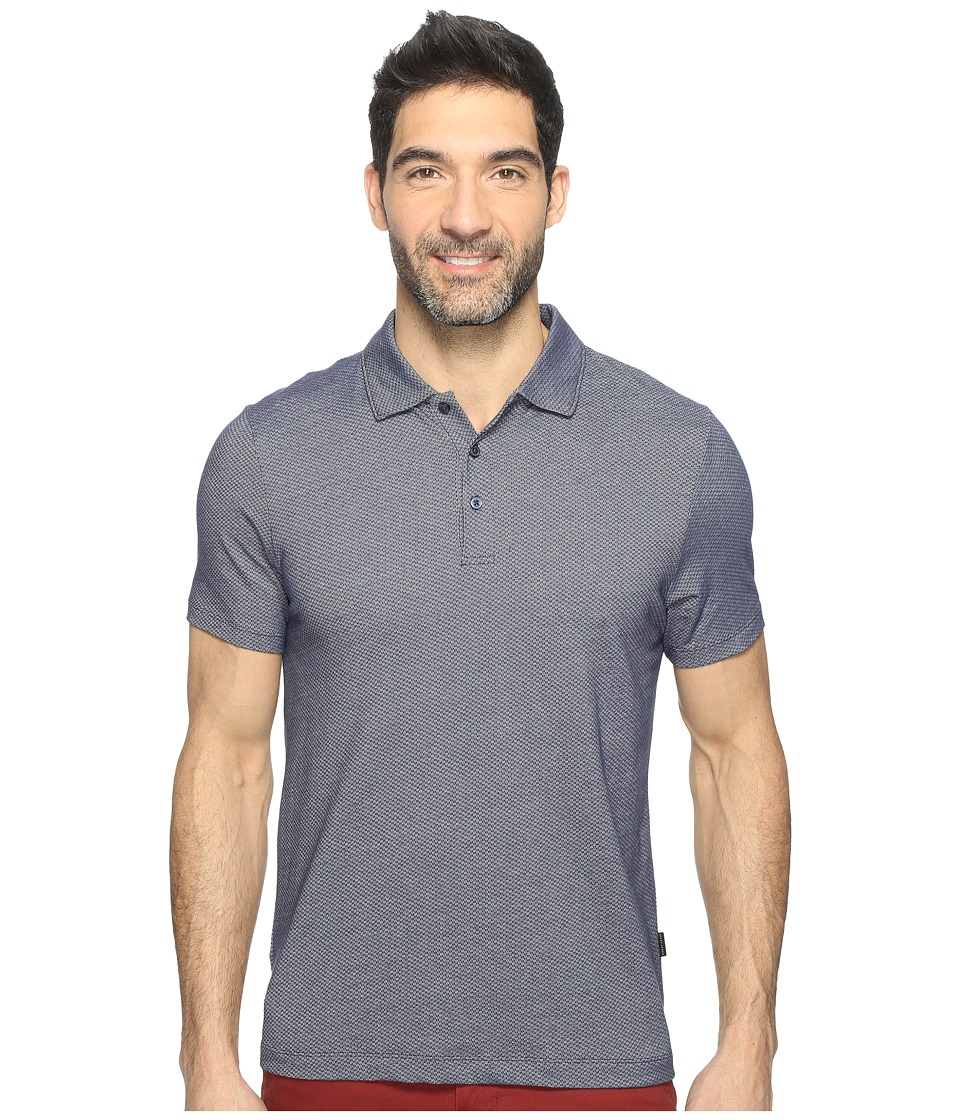 Perry Ellis - Solid Interlocked Polo Shirt (Eclipse) Men's Clothing