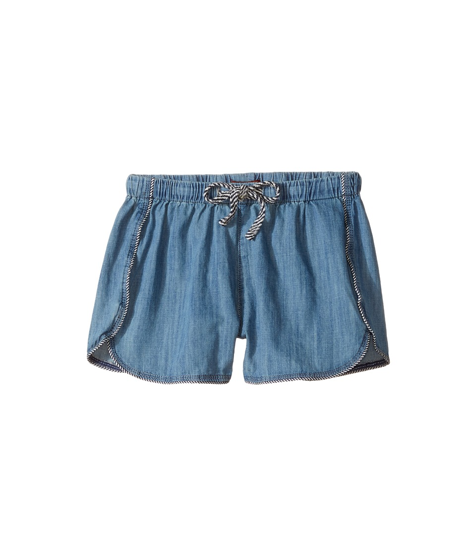 7 For All Mankind Kids - Pull-On Shorts (Big Kids) (Chambray) Girl's Shorts